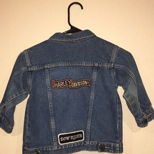 Other - Kids blue jean denim HARLEY Jacket 4T
